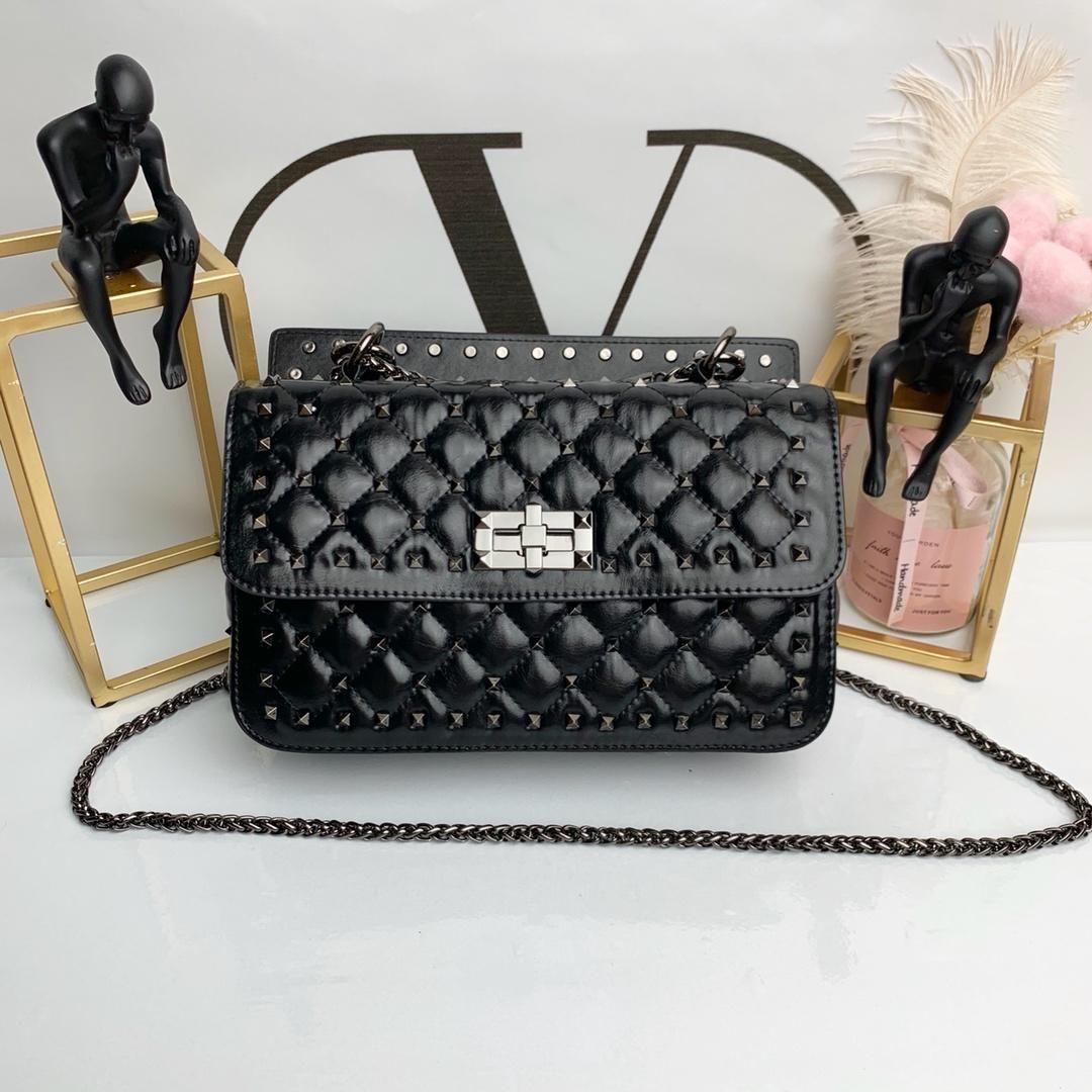 af7fa0822f358 Famous Brand Designer Fashion Women Luxury Bags Lady Leather Rivet ...
