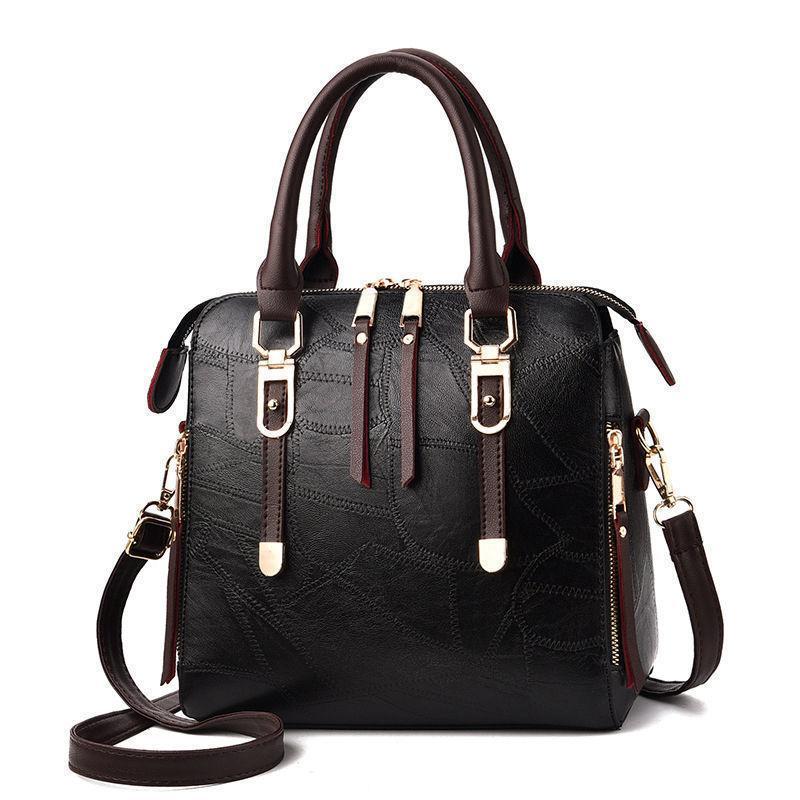 49c32f39e0873 Women Handbags High Quality Women Bag Fashion Patchwork Designer Ladies Big  Pu Leather Lady Shoulder Bag Tote Gifts Vintage Belt Man Bags Crossbody  Purses ...