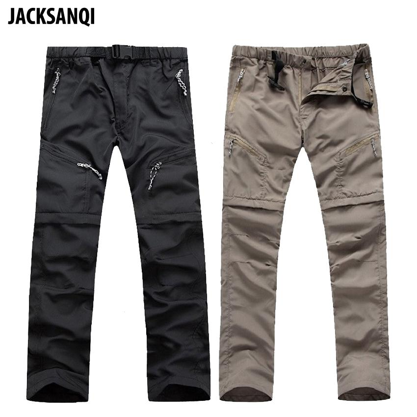 ef88bca6cd7 2019 JACKSANQI Summer Men Removable Hiking Pants Shorts Green Outdoor Quick  Dry Breathable Trousers Climbing Trekking Fishing RB068 From Kimgee