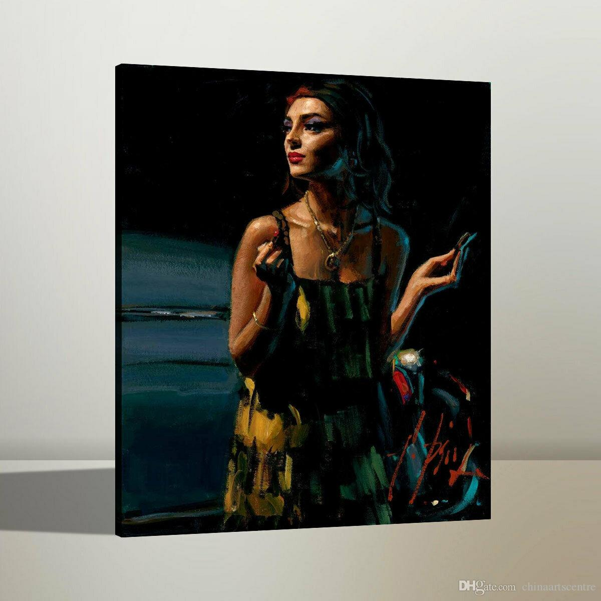 Fabian Perez Glamour VII High Quality Handpainted & HD Print Figure Portrait Art Oil Painting On Canvas Wall Art Home Office Deco p26