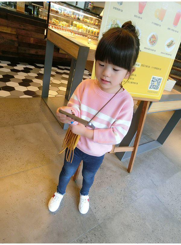 5c763783a 2019 New Winter Item Girl Knitting Warm Top Two Colors Outdoor Kids ...