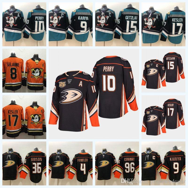 huge selection of 1bd63 ba339 15 Ryan Getzlaf Anaheim Ducks 25th Anniversary 17 Ryan Kesler 10 Corey  Perry 36 John Gibson 4 Fowler 67 Rakell Third Hockey Jersey