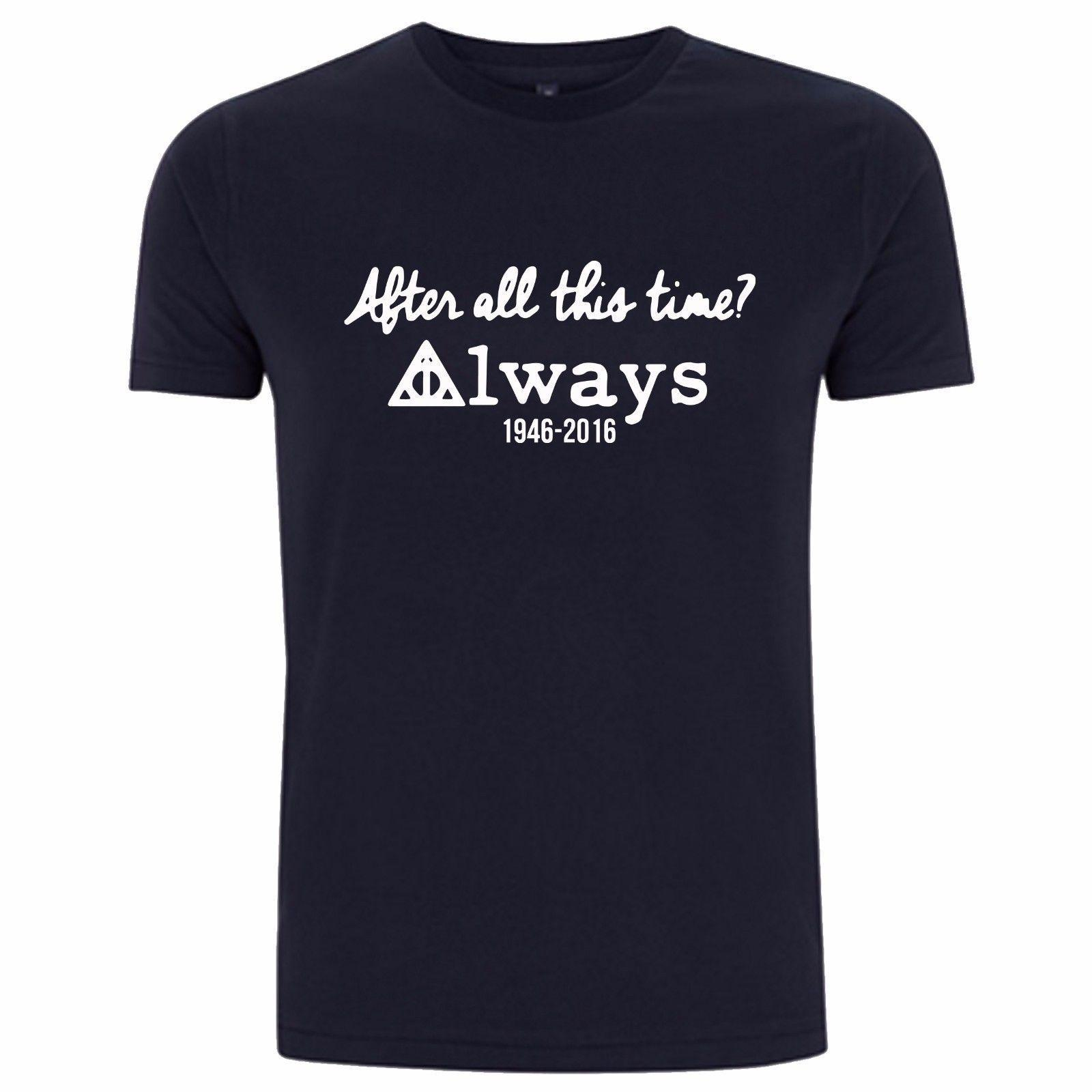 T-SHIRT DE HARRY POTTER - TRIBUTO DE ALAN RICKMAN T-SHIRT DEATHLY DO TREVO DE JACK RACHADOR