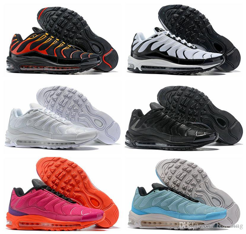 d785e9123ba470 New 97 Plus SE Tn Tuned 1 Hybird Air Mens Running Shoes For Men Sneakers  97s Tns Fashion Brand Shock Orange Womens Trainers On Running Shoes Best  Womens ...