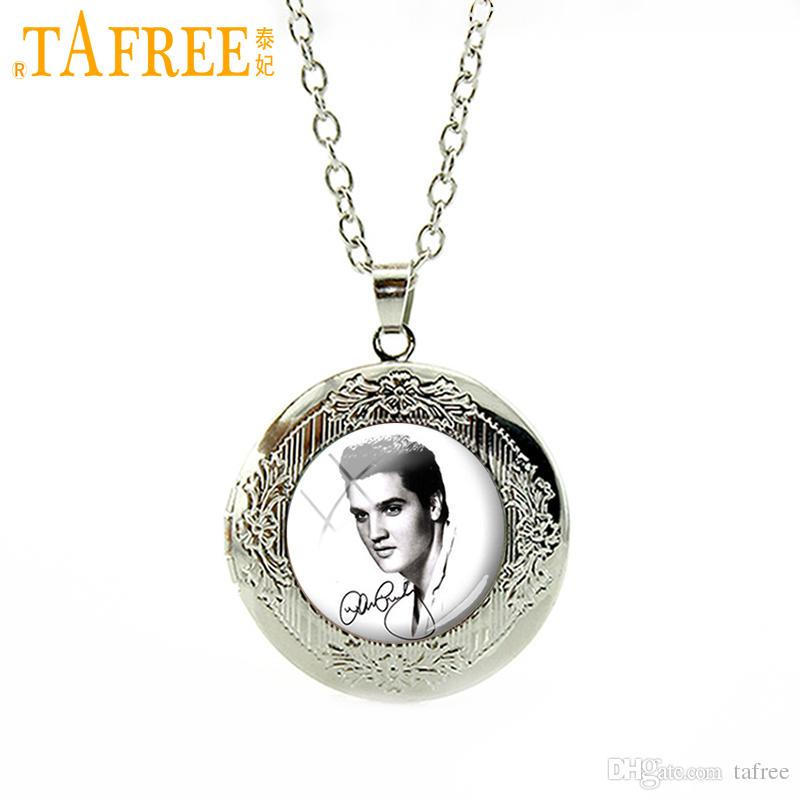 TAFREE Vintage Elvis Presley locket Pendant The King Rock Jewelry Marilyn Monroe Audrey Hepburn choker statement Necklace N393