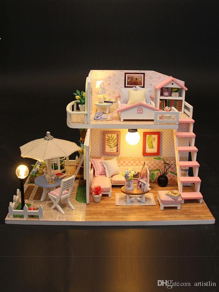 2019 Princess Doll House Birthday Gifts For Adults And Children Authentic Refined Proportion Restore Life Scenes Safe From Artistlin 3517