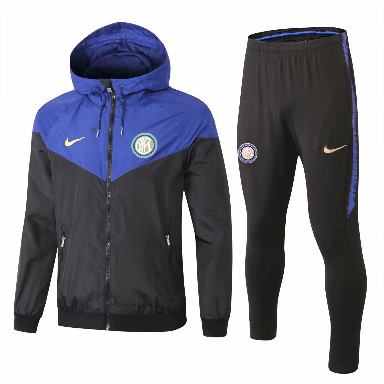 19 20 Inter milan mens hoodies jacket Martínez windbreaker tracksuits soccer jerseys Lukaku winter coat football training shirt