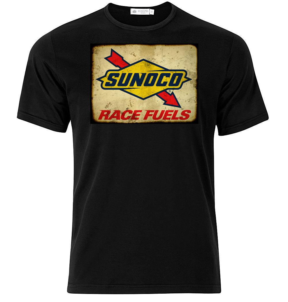 Sunoco Race Fuels - Graphic Cotton T Shirt Short & Long Sleeve Funny free  shipping Casual Tshirt top