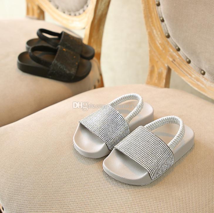 001ecd29e0365 Enfants sandales brillantes filles strass princesse chaussures enfants ...
