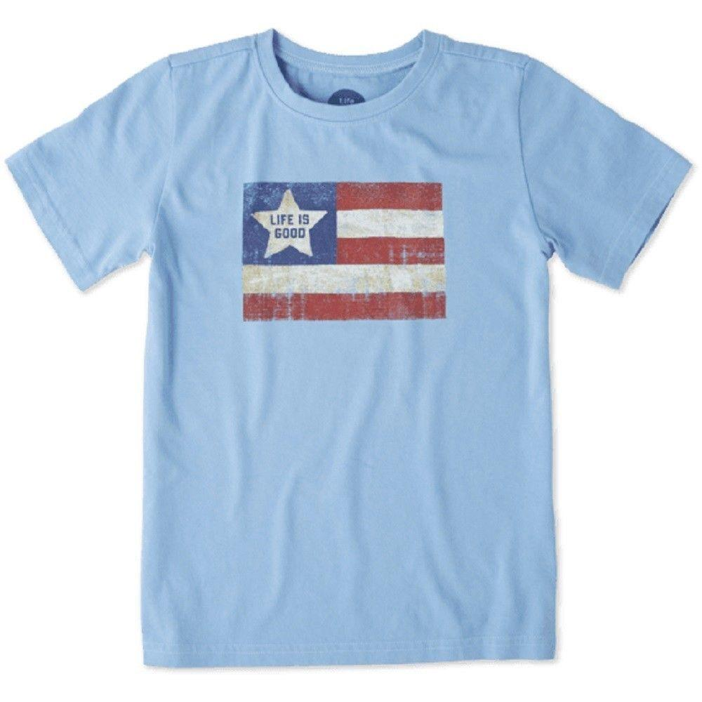 00a93962905 Life Is Good. Boys Crusher Tee  Vintage American Powder BlueFunny Unisex  Casual Tshirt Top T Shirt Awesome Popular T Shirt From Mvptshirt