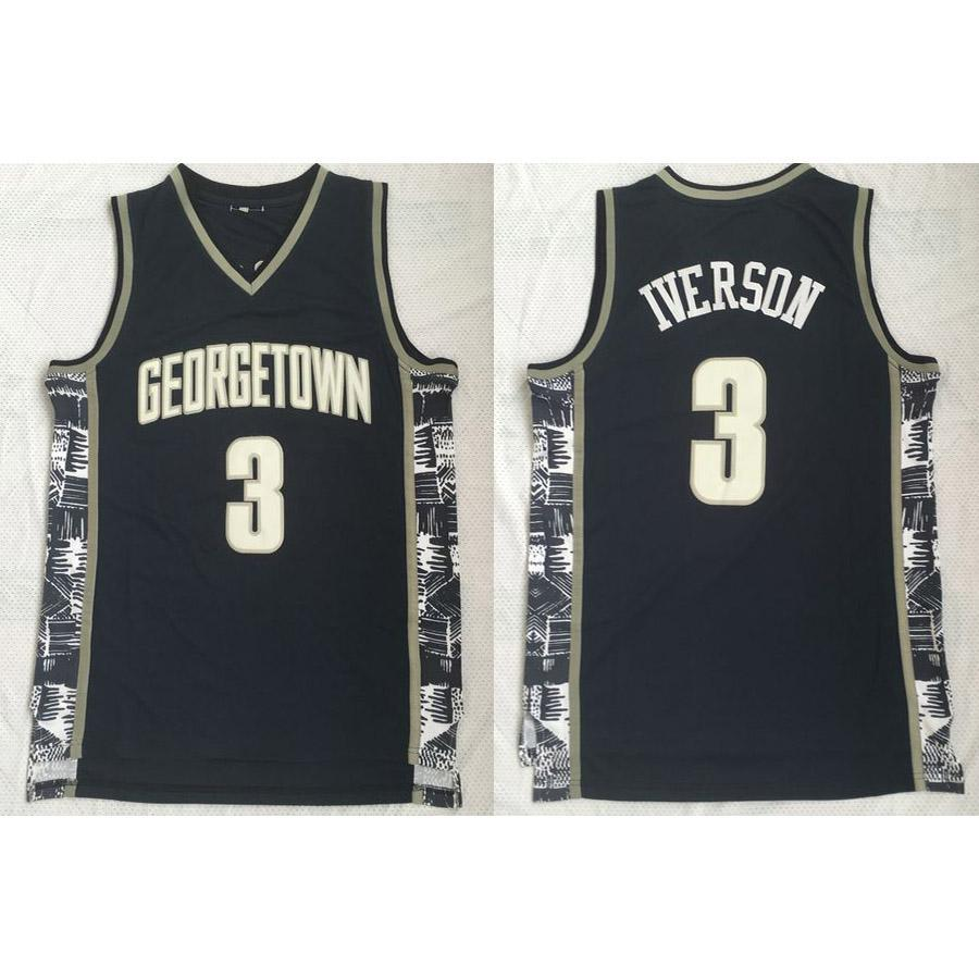 new style 78f7d f540c Mens Allen Iverson Jersey Collection Georgetown Hoyas College Basketball  Jerseys High Quality Stitched Name&Number Size S-2XL