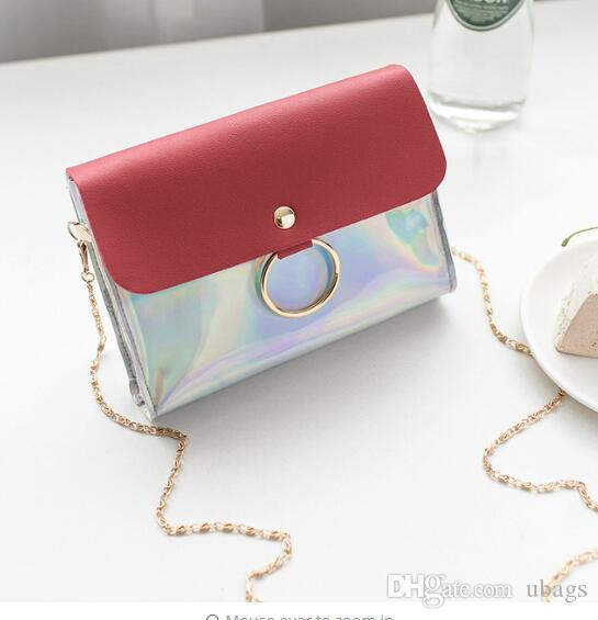 wholesale Laser Crossbody Bag For Women Chain Mini Shoulder Bag Circle Small Messenger Bag Womens Handbags and Purses evening clutch bags