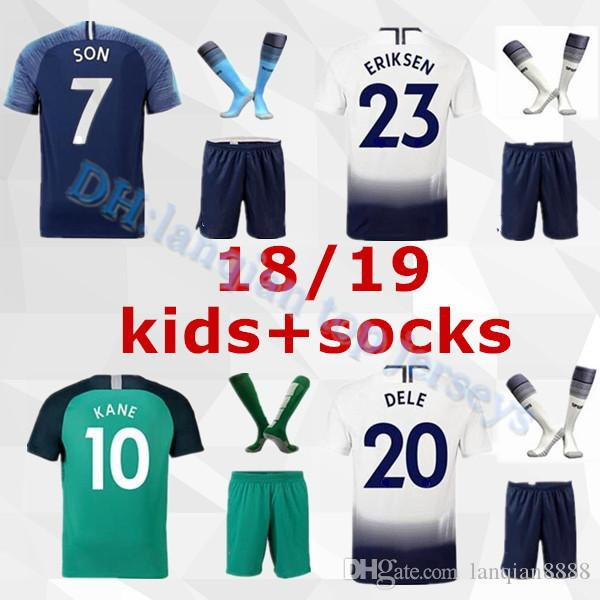 1a990d7af 2019 18 19 Spurs Kids Home Soccer Jersey Kits 2018 2019 Tottenhan Kane Son  Alderweireld Eriksen Dele Lamela HOME AWAY Child Football Shirt From  Lanqian8888, ...