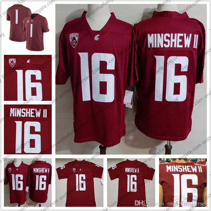 2019 Washington State Cougars 16 Gardner Minshew II 2018 Red WSU NCAA  College Football Jersey Good Quality S 3XL From Onthefieldjersey 772e34ba9