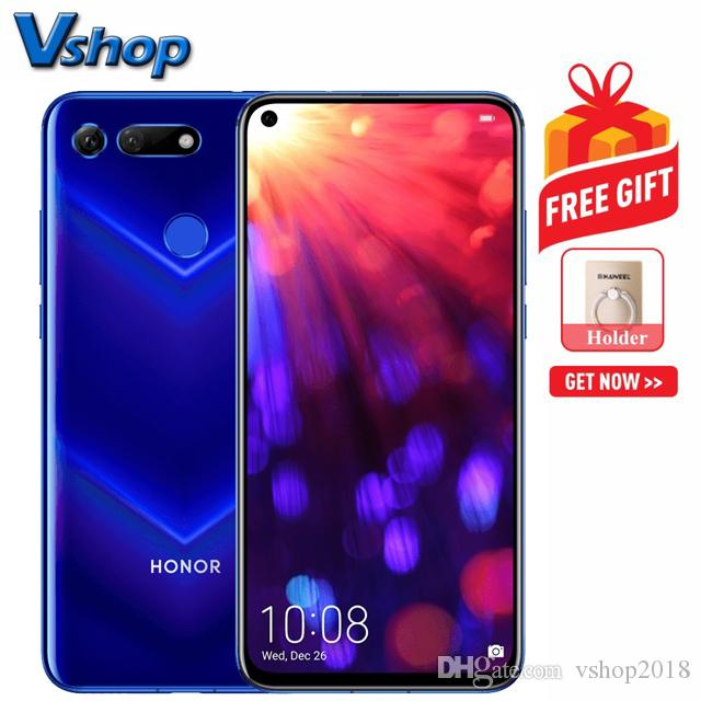 Huawei Honor V20 8GB 128GB China Version Dual Back Cameras Fingerprint  Identification 6 4 inch Punch-hole Full Screen Support Google Play 4G
