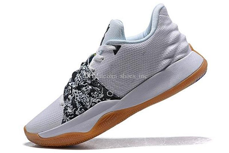 buy online fe0ca c2127 Cheap Mens Kyrie low cut basketball shoes for sale Triple Black White Multi  color Flytrap elite 4 IV sneakers