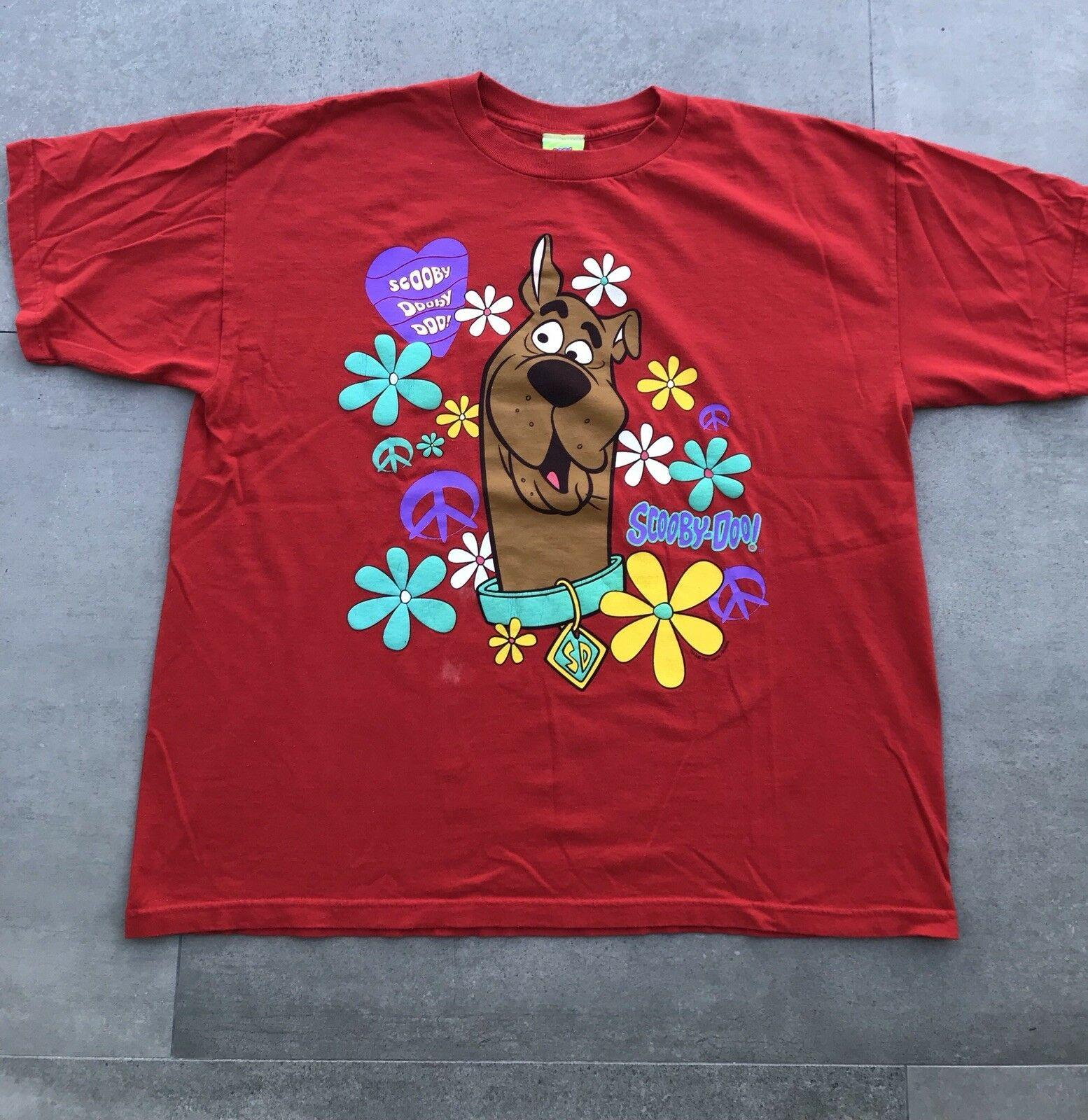 6f6ab970585 Vintage 1997 Scooby Doo T Shirt 90s Cartoon Network Red Trippy Funny Unisex  Casual Top Mens Shirt Printed Shirts From Paystoretees