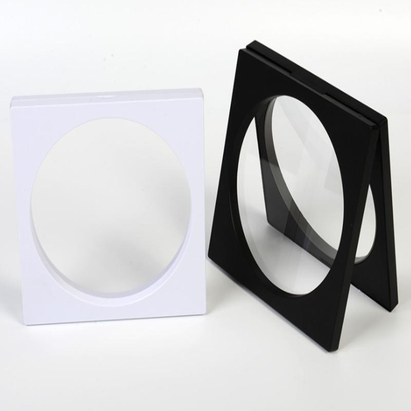 160*160mm PET Membrane box Holder Inner Circle Floating Display Case Earring Gems Ring Jewelry Suspension Packaging Box