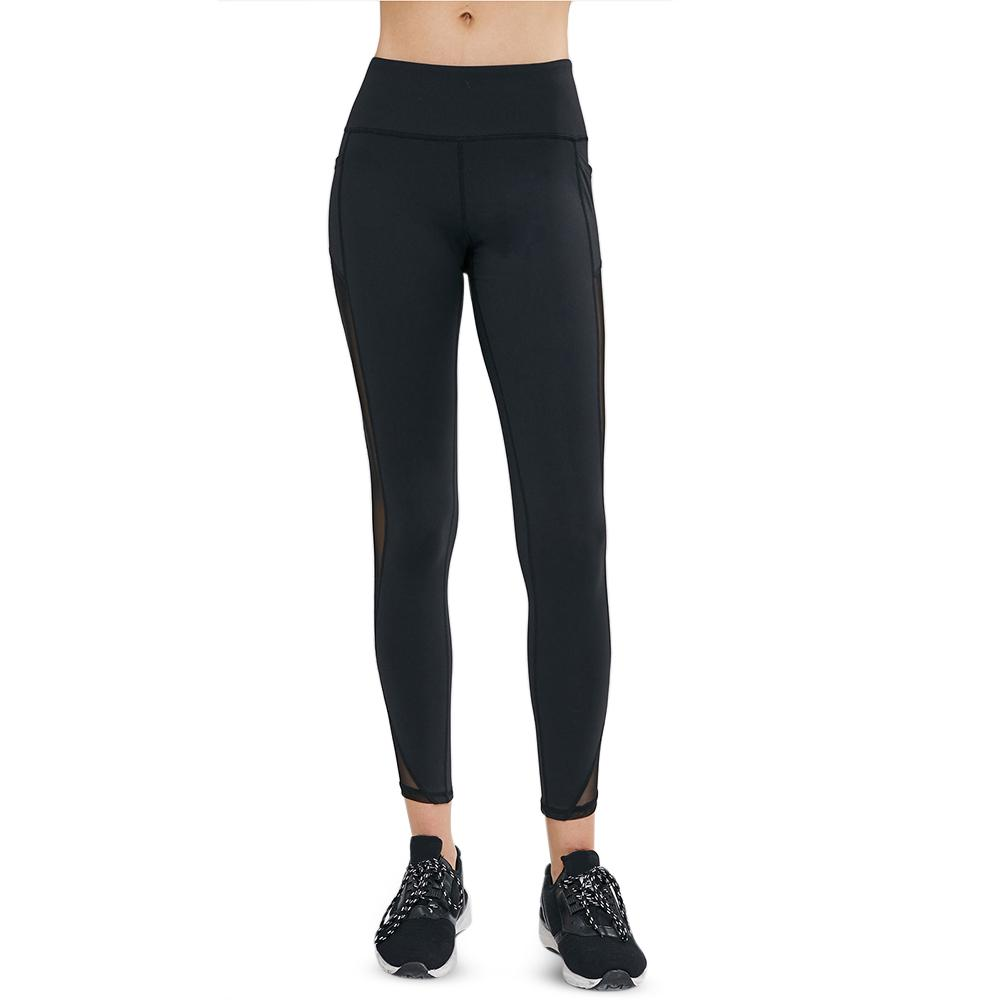 48b33f8c90 2019 Side Pocket Mesh Panel Leggings Yoga Pants Women Black Running Jogging  Leggings Skinny Yoga Pants Gym Trousers Fitness Clothing From Capsicum