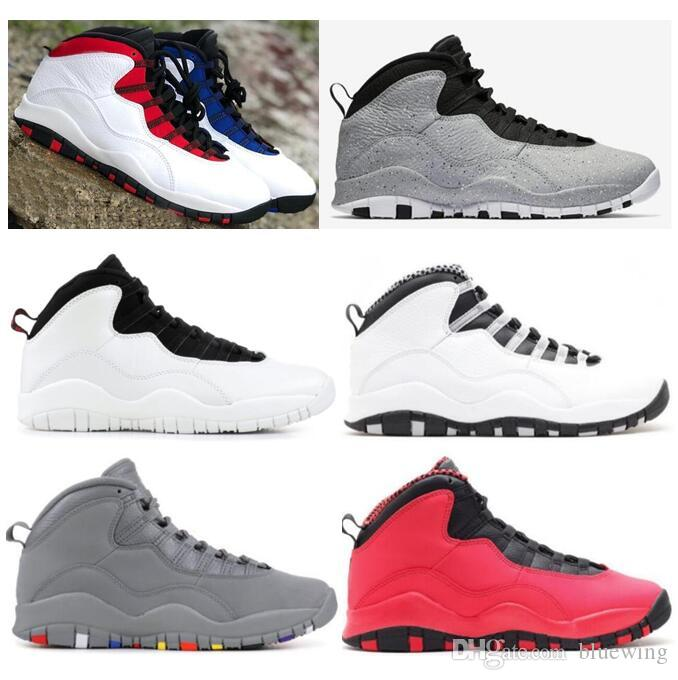 New 10 Westbrook Red Blue Cement Men Basketball Shoes 10s I m Back Powder  Blue Cool Grey Steel Sneakers High Quality