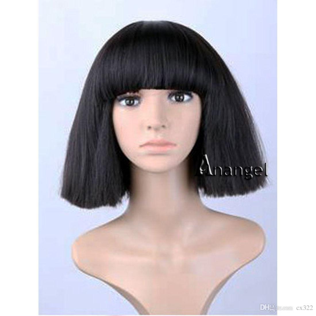 Perruque femme noire ou blonde moyenne Yaki