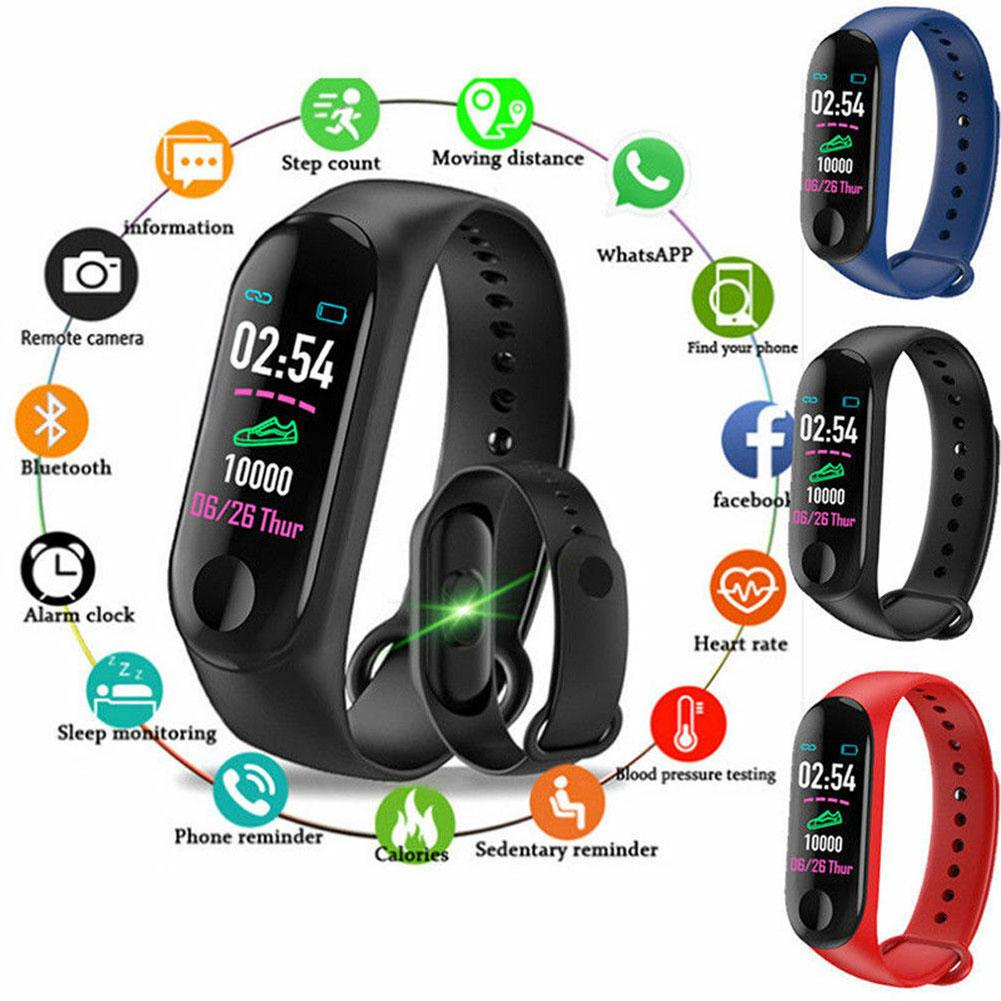 Heart Rate Monitor Smart Watch Wristband Waterproof Bracelet Sports Step Counter Health Blood Pressure Fitness Tracker SmartBand