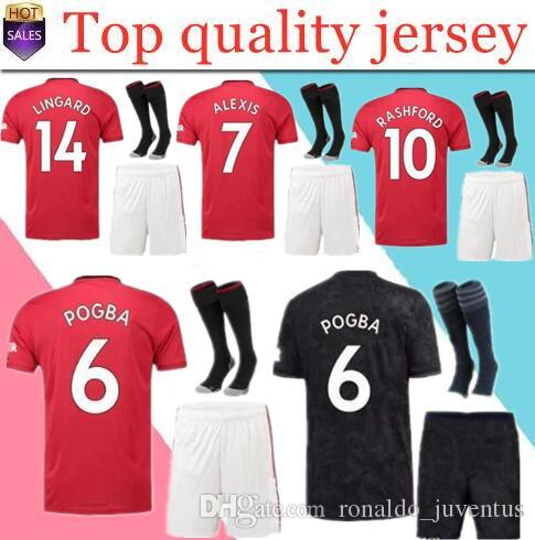 2f98997db4269 2019 19 20 Manchester POGBA Soccer Jersey Kits BEST QUALITY 2019 2020 ALEXIS  LUKAKU RASHFORD Maillat De Foot UNITED Football Shirt Kit Uniforms From ...