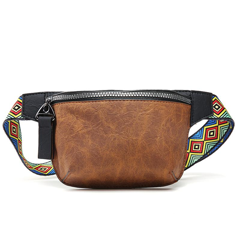 2ebbadb153 Fanny Pack for Men Leather Waist Bag Travel Pocket Sling Chest ...