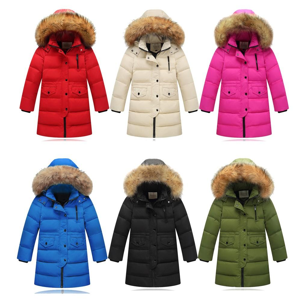 9c7467b81eb4 TELOTUNY Baby Coat Winter Faux Fur Hooded Parka Down Coat Puffer ...
