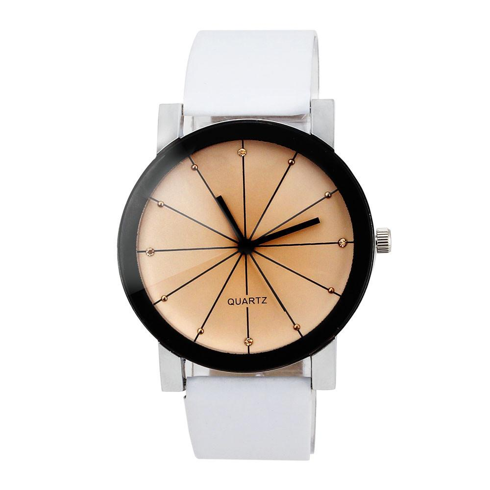 90e6175d388d Men Quartz Dial Clock Leather Wrist Watch Round Case Fashion Casual Luxury  White Female Watch A40 Expensive Watches Watches Online From Granthill
