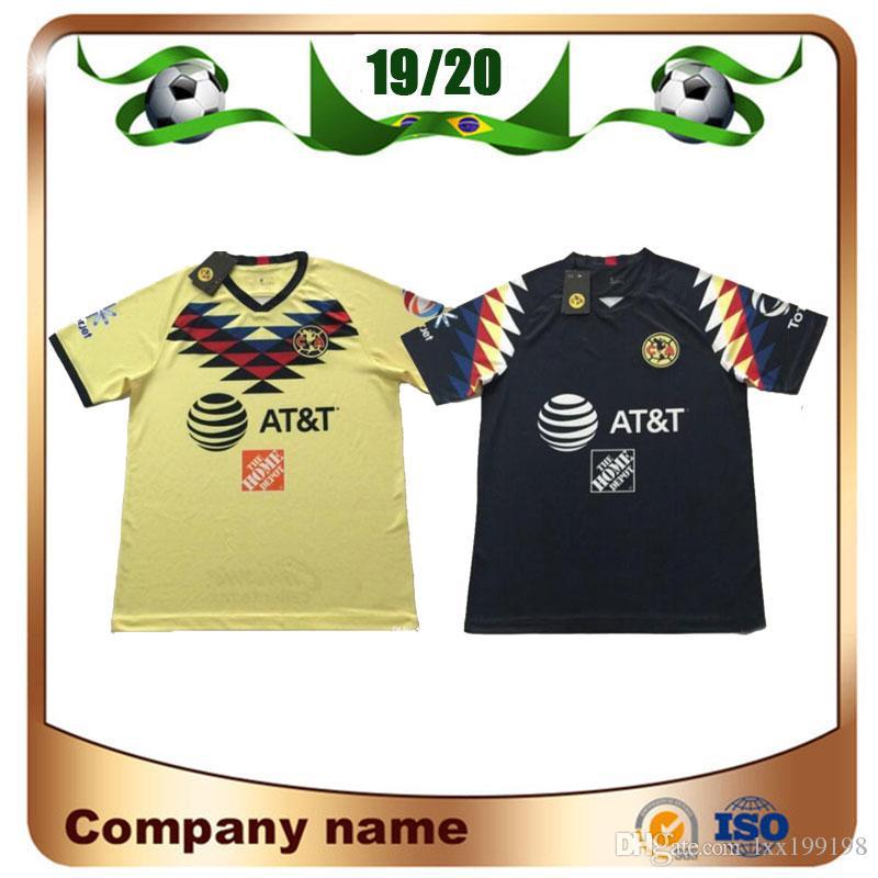 size 40 18f35 ae8a4 2019 LIGA MX Club America soccer Jerseys 19/20 America team 10# C.DOMINGUEZ  24# O.PERALTA 22# P.AGUILAR Football shirt uniform