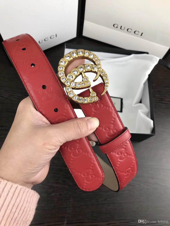 649998fb441e0 100% Genuine Leather the Best Quality Snake G Buckle Belt Designer ...
