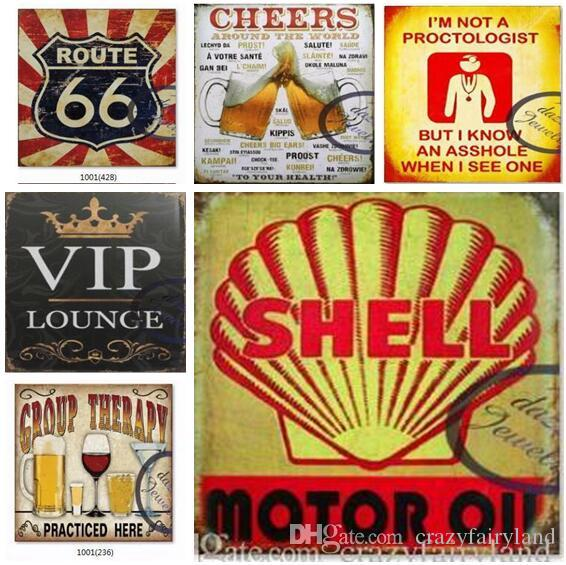 Tin Signs Motorcycles Soda Pop Retro Car Vintage Metal Plate Tin Signs Wall Poster Decals Plate Painting Bar Club Pub Decor Metal Signs