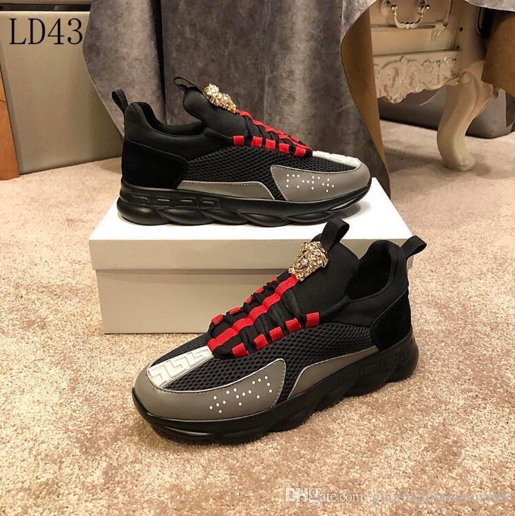 b0490b4a 2019 G2-02 New Mens Versace casual shoes Luxury Brand men s Gucci shoes  Designer Louis Vuitton sport Shoes size 38-45