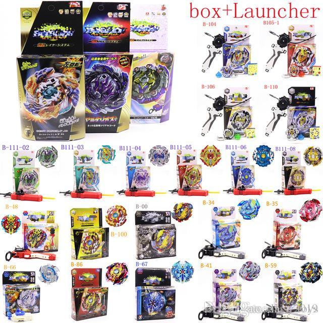 4D Beyblade Burst Toys B-117 B-115 With Launcher Kids Gift Toupie Bayblade burst Metal Fusion God Spinning Top Bey Blades
