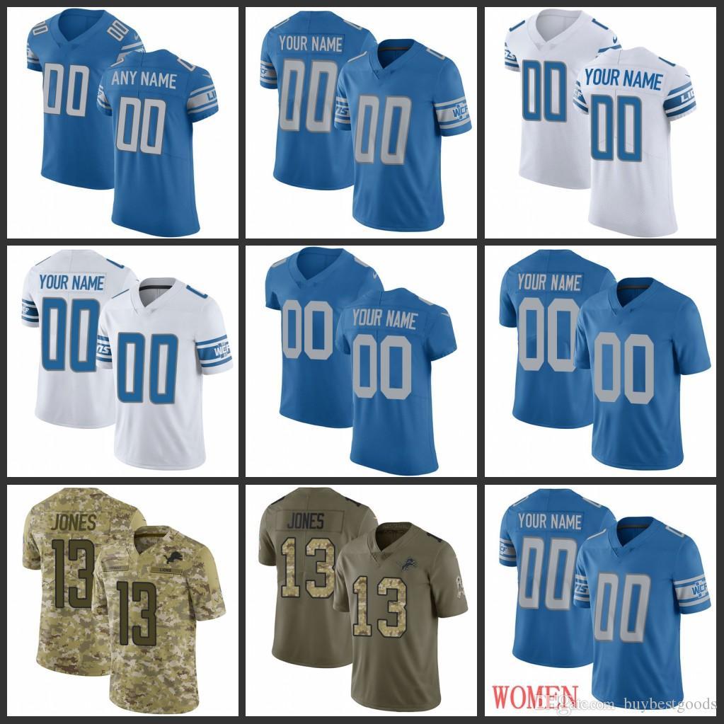 low priced 44759 2fe71 Custom 9 Matthew Stafford Jersey Detroit Lions Jersey 20 Barry Sanders 15  Golden Tate III 23 Darius Slay JR Jersey Men Women Youth