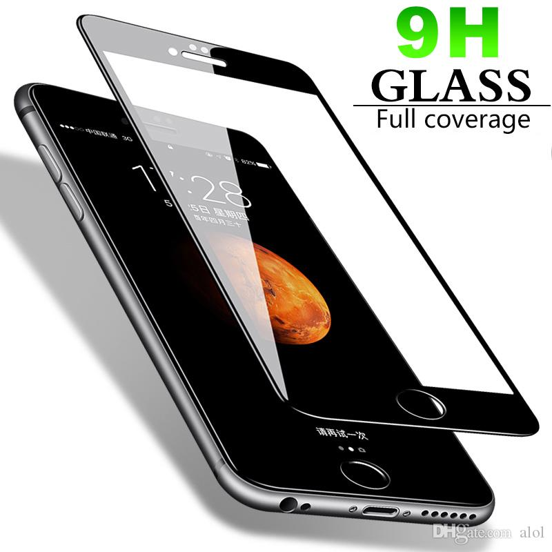 3D Curved Full Body Tempered glass For iPhone XS Max X 7 8 6 6S Plus 9H Screen protector Flim Cover guard with all brand smartphone