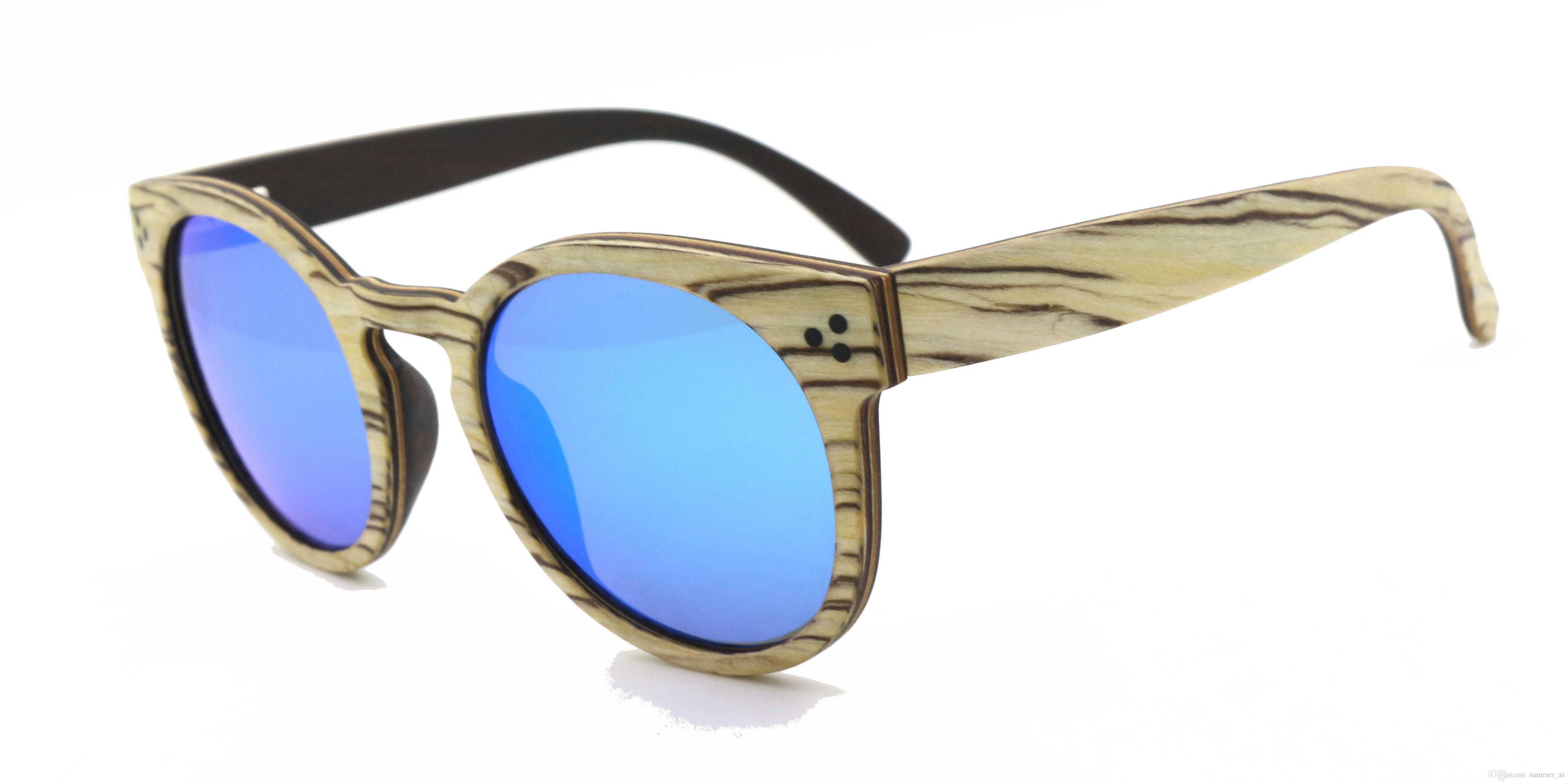 316c9a3c2d Compre Gafas De Sol De Madera Hechas A Mano Naturales Hechas De ...