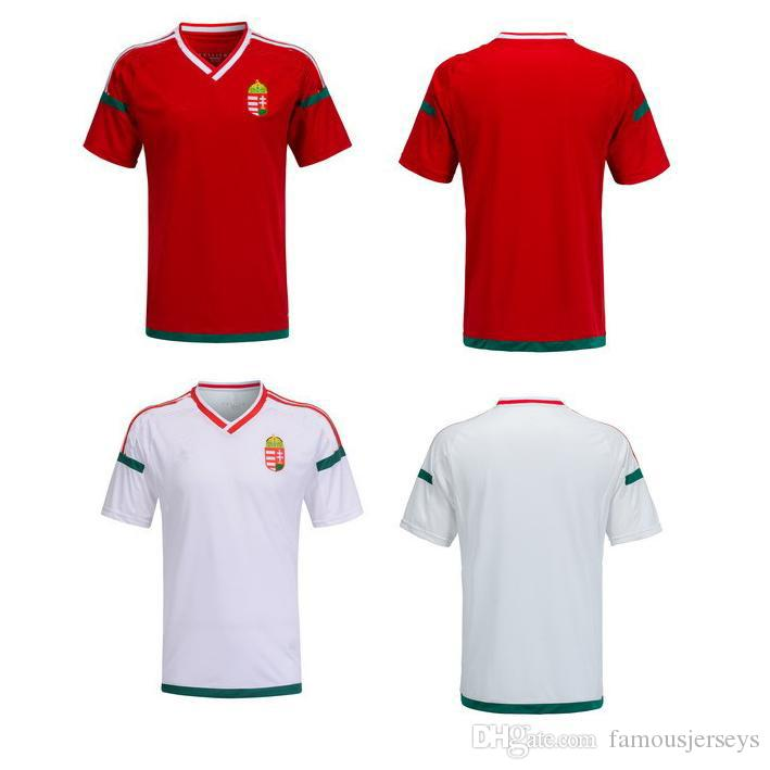 4676d8fc39c Euro cup 2016 Soccer Jersey Hungary Home Away kits Thai Quality Away Green  Soccer Shirts Men's Cheap Custom Football Jerseys