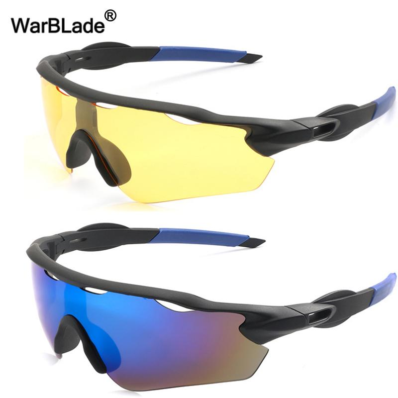 WarBLade Brand Designer Night Vision HD Driving Sunglasses Men Polarized Sunglasses Outdoor Sports Anti-glare Goggles Glasses