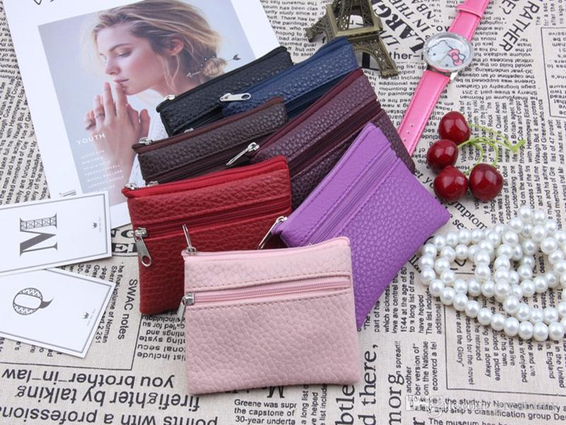 10 colors New Korean solid colors wallet purse short wallet women men children functional zipper leather coin PU bag
