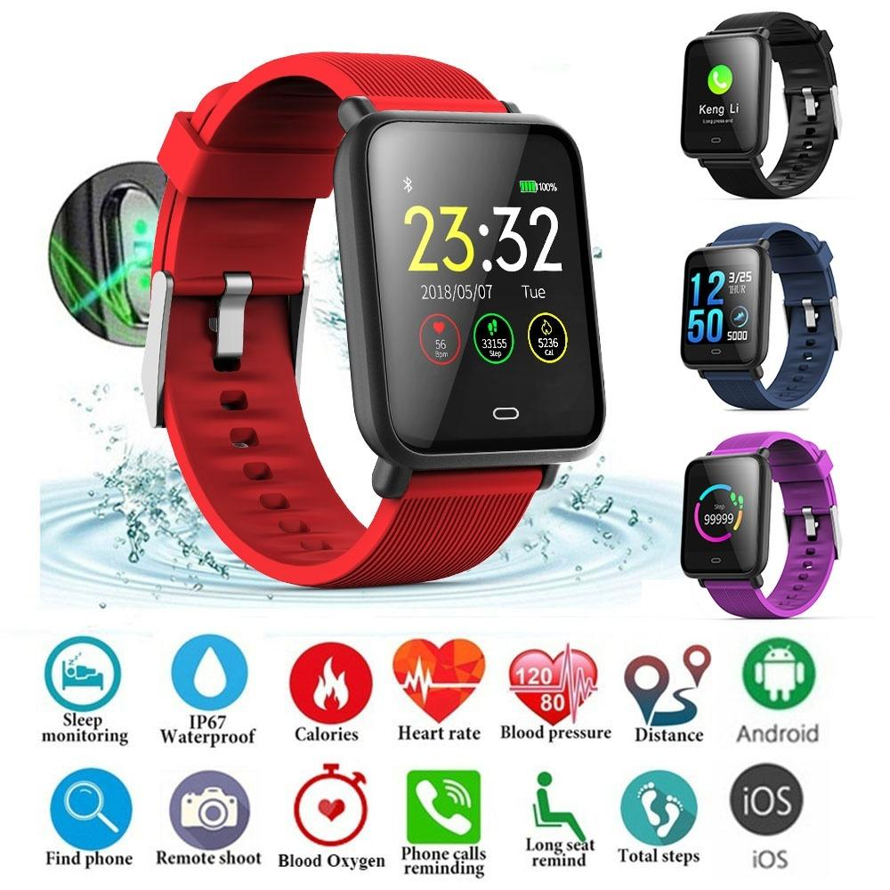 Q9 Smart Band Tracker Fitness Bracelet Color Screen Heart Rate Monitor  Smart Watch IP67 Life Waterproof SmartWatch for IOS Android
