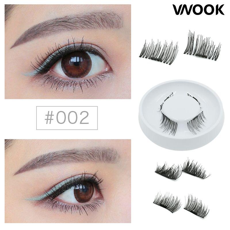 Vnook Makeup 3d Fake Eye Lashes Easy To Wear Magnetic False