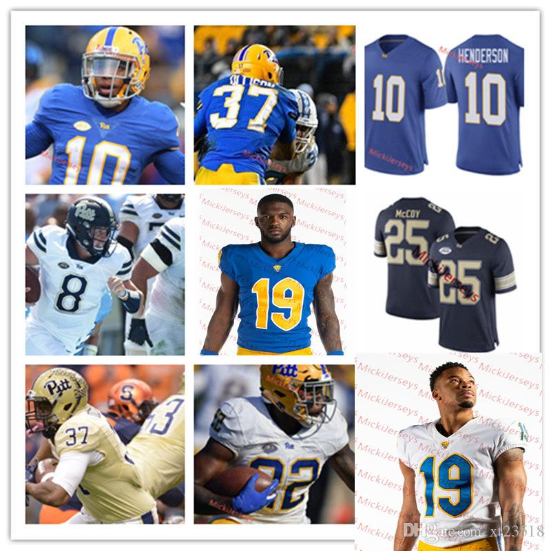 finest selection 07af3 27963 Mens Custom Pittsburgh Panthers Football Jersey James Conner Max Browne  Larry Fitzgerald Quadree Henderson LeSean McCoy Pitt Panthers Jersey