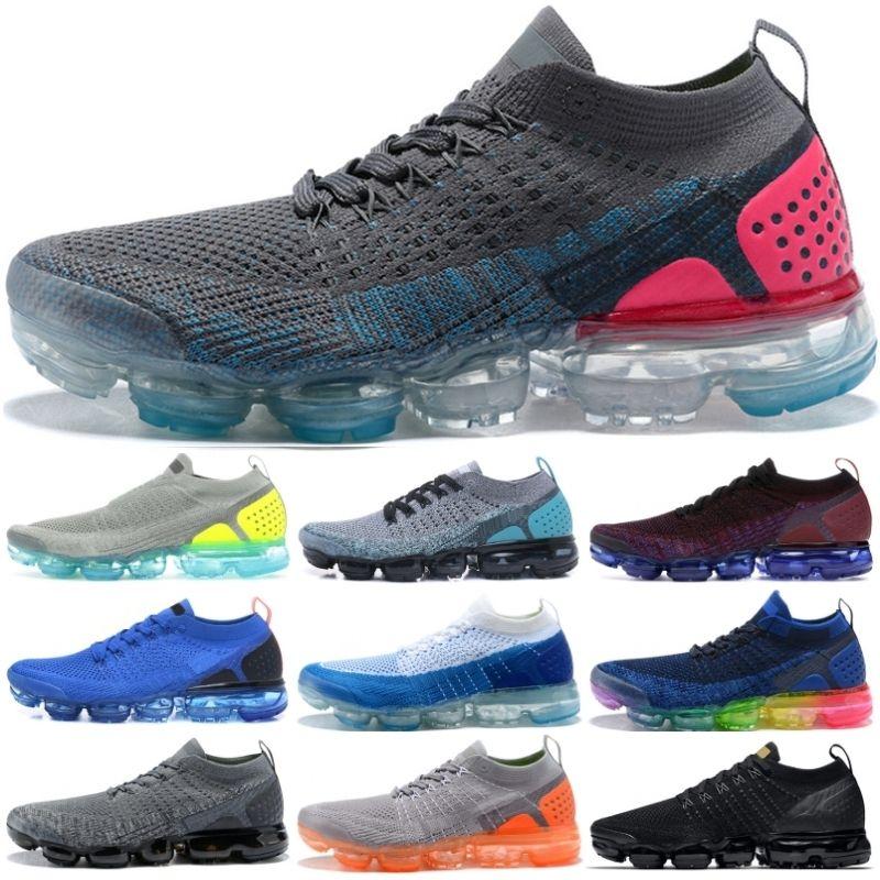 f3b7e2ba0 2019 Fly 2.0 Men Women Running Shoes Rainbow Black White Metallic ...