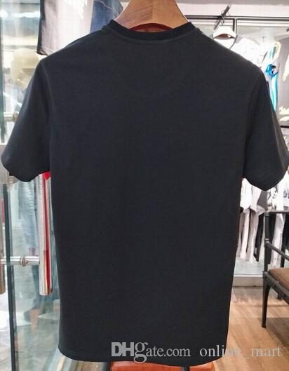 Мода хлопка с коротким рукавом футболки Snake печати Италия Дизайн Повседневный Tshirt Топы Тис Классические рубашки поло Черный Белый Размер M-3XL