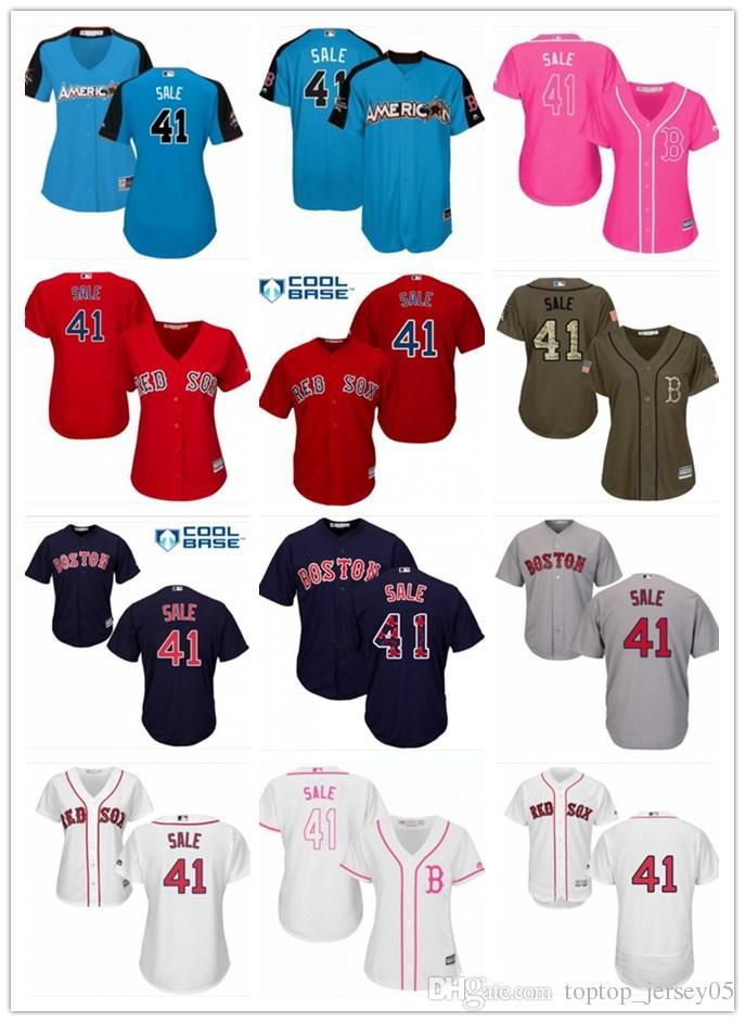 2019 2018 Boston Red Sox Jerseys  41 Chris Sale Jerseys Men WOMEN YOUTH Men S  Baseball Jersey Majestic Stitched Professional Sportswear From  Toptop jersey05 ... 5e96978073
