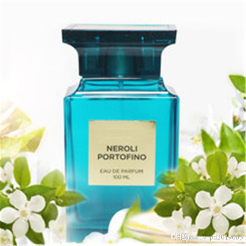 NEW fashion Newest Design Attractive fragrance blue bottle 100 ml perfume nice smell very long time spray free shipping.