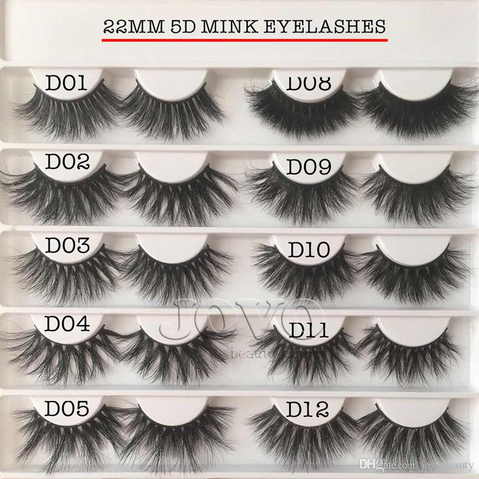 JOVO BEAUTY 22MM 3D Mink Lash 14 Styles Selectable Soft Crisscross Private  Label Long Real Mink Eyelashes With Pink Eyelash Package Box