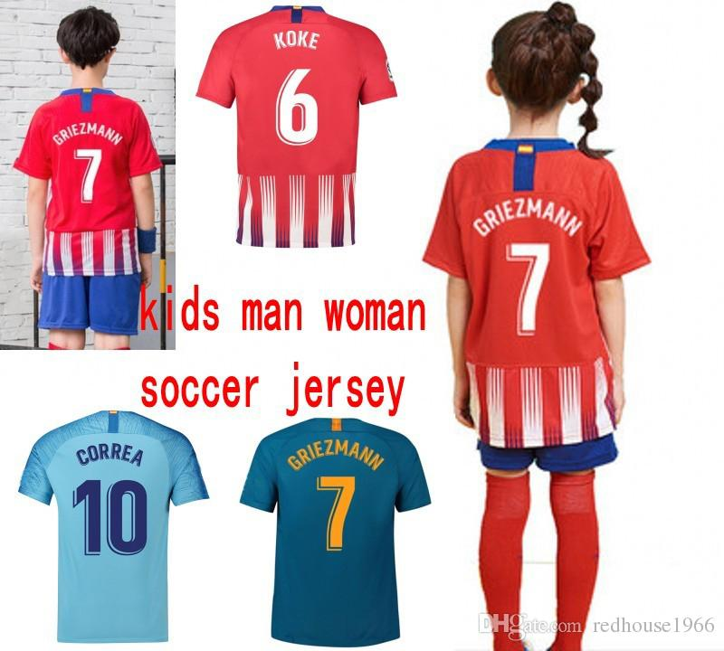 2019 2019 Promotion Hight Quality Soccer Jersey 7 GRIEZMANN 10 Correa 11  Lemar Women Men Kids Kits Football Shirt From Redhouse1966 e0eeb3dcdd
